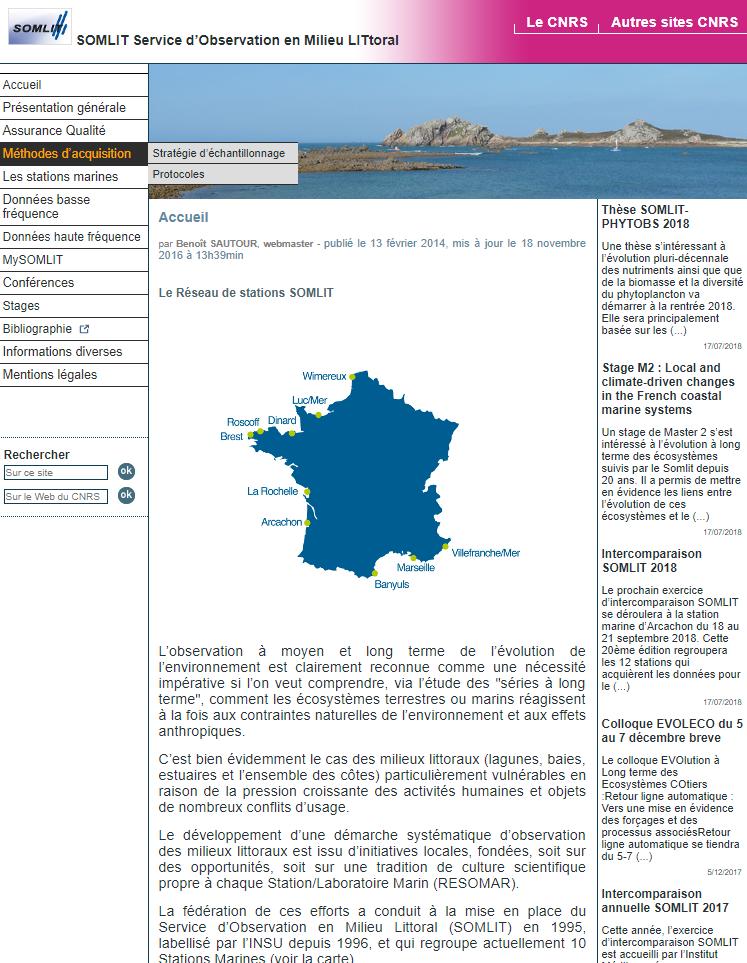 Service D Observation En Milieu Littoral Milieu Marin France